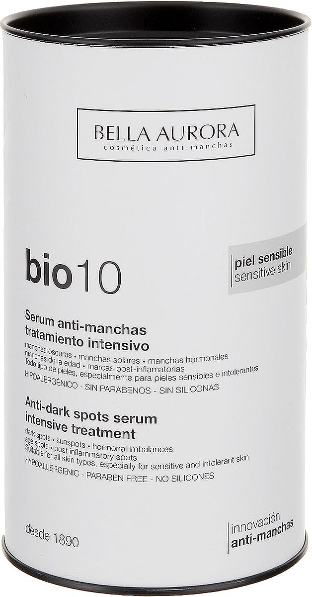 Bella Aurora Интенсивная сыворотка для лица, выравнивающая тон кожи 30 млBA4050100Анти-пигментная сыворотка bio10 Bella Aurora является наиболее эффективным средством от пятен на коже. Bio10 помогает бороться c темными пятнами меланина и липофусцина на коже и другими нарушениями тона. Она подходит для всех типов кожи, даже наиболее чувствительной и деликатной. Депигментирующий эффект обеспечен высокой концентрацией активных компонентов, которые действуют во всех механизмах процесса депигментации кожи. Уменьшает и устраняет все существующие темные пятна, в то же время предотвращая появление новых. Успокаивает, смягчает, защищает и увлажняет кожу, борется с преждевременным старением. Регулирует воспаление, снимает покраснения и выравнивает тон кожи. Нежная текстура сыворотки обеспечивает чувство мгновенного и длительного комфорта.