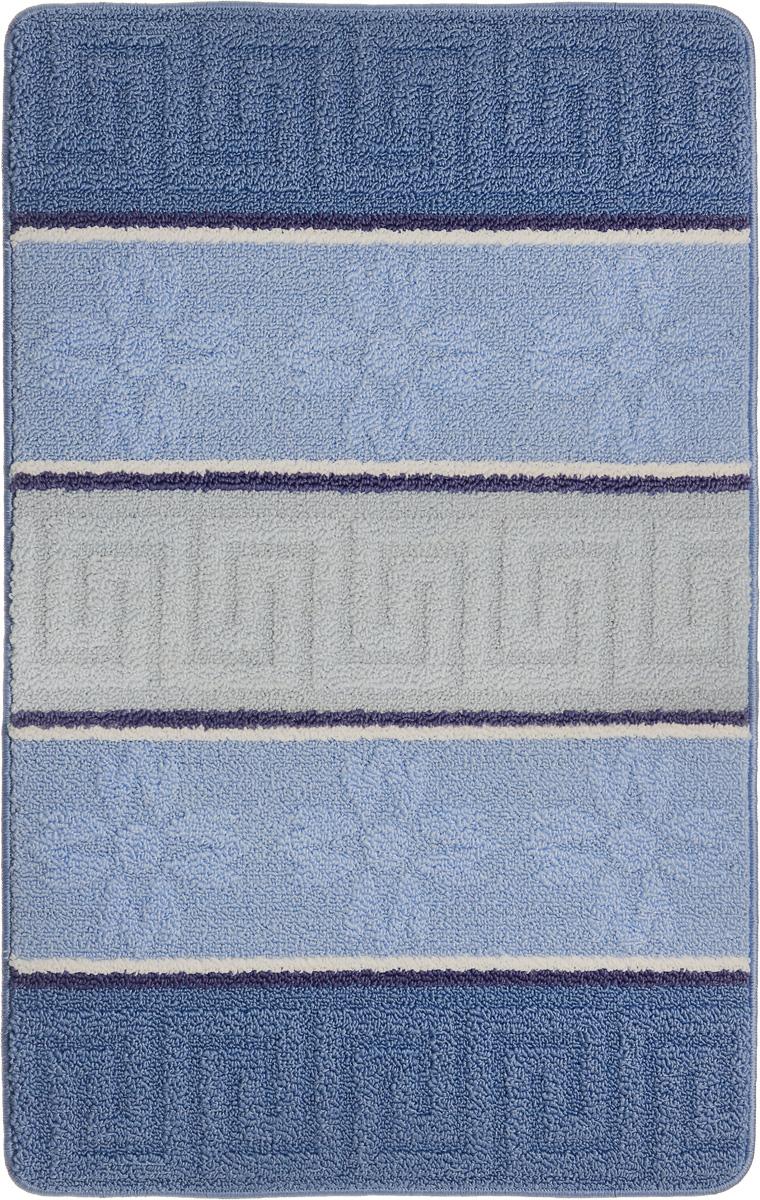 Коврик для ванной Urgaz Cliona, ароматизированный, цвет: голубой, белый, синий, 60 x 100 см. УКВ-1004УКВ-1004Ковер Urgaz Cliona выполнен из полипропилена, ворс из полиэстера. Он обладает хорошими показателями теплостойкости и шумоизоляции. Является гиппоалергенным. За счет невысокого ворса легко чистить. Вам придется по душе широкая гамма цветов и возможность гармонично оформить интерьер. Практичный и устойчивый к износу ворс - от постоянного хождения не истирается, не накапливает статическое электричество. Структура волокна в полипропиленовых моделях гладкая, поэтому грязь не может выесться, на ворсе, она скапливается с трудом. Полипропилен не впитывает влагу, отталкивает водянистые пятна.