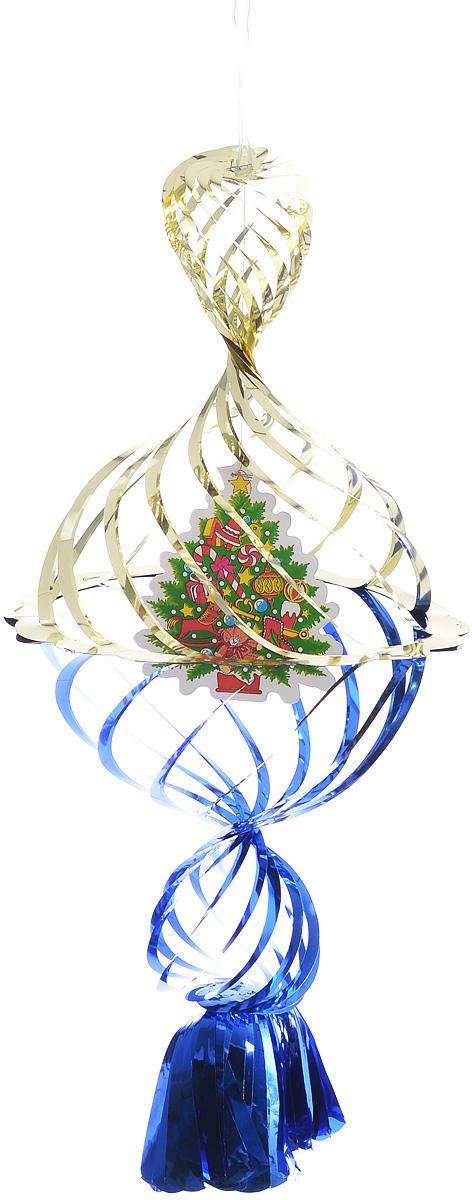 Украшение новогоднее подвесное Winter Wings Елочка, цвет: синий, золотистый, 40 х 20 х 20 смN09176_синий, золотистый, зеленыйНовогоднее украшение Winter Wings Елочка прекрасно подойдет для декора дома и праздничной елки. Изделие выполнено из ПВХ. С помощью специальной петельки украшение можно повесить в любом понравившемся вам месте. Легко складывается и раскладывается. Новогодние украшения несут в себе волшебство и красоту праздника. Они помогут вам украсить дом к предстоящим праздникам и оживить интерьер по вашему вкусу. Создайте в доме атмосферу тепла, веселья и радости, украшая его всей семьей.