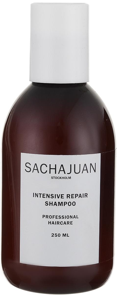 """Sachajuan Шампунь для волос интенсивно восстанавливающий 250 млSCHJ157Интенсивный уход для ослабленных, пористых, сухих и поврежденных солнечными лучами волос. Активные вещества технологии """"Морской шелк"""" в сочетании с компонентами, защищающими от ультрафиолетового излучения, глубоко проникают в волосяную луковицу, продолжая восстанавливать и питать ее даже после смытия шампуня. После применения нанесите кондиционер для интенсивного восстановления."""