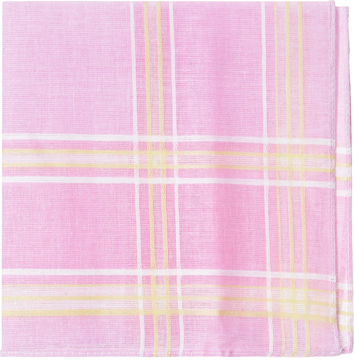 Платок носовой женский Zlata Korunka, цвет: розовый, белый, желтый. 45471. Размер 27 см х 27 см45471_розовый, белый, желтыйЖенский носовой платой Zlata Korunka, изготовленный из натурального хлопка, приятен в использовании и отлично впитывает влагу. Материал не садится и хорошо стирается. Модель оформлена контрастными полосками.