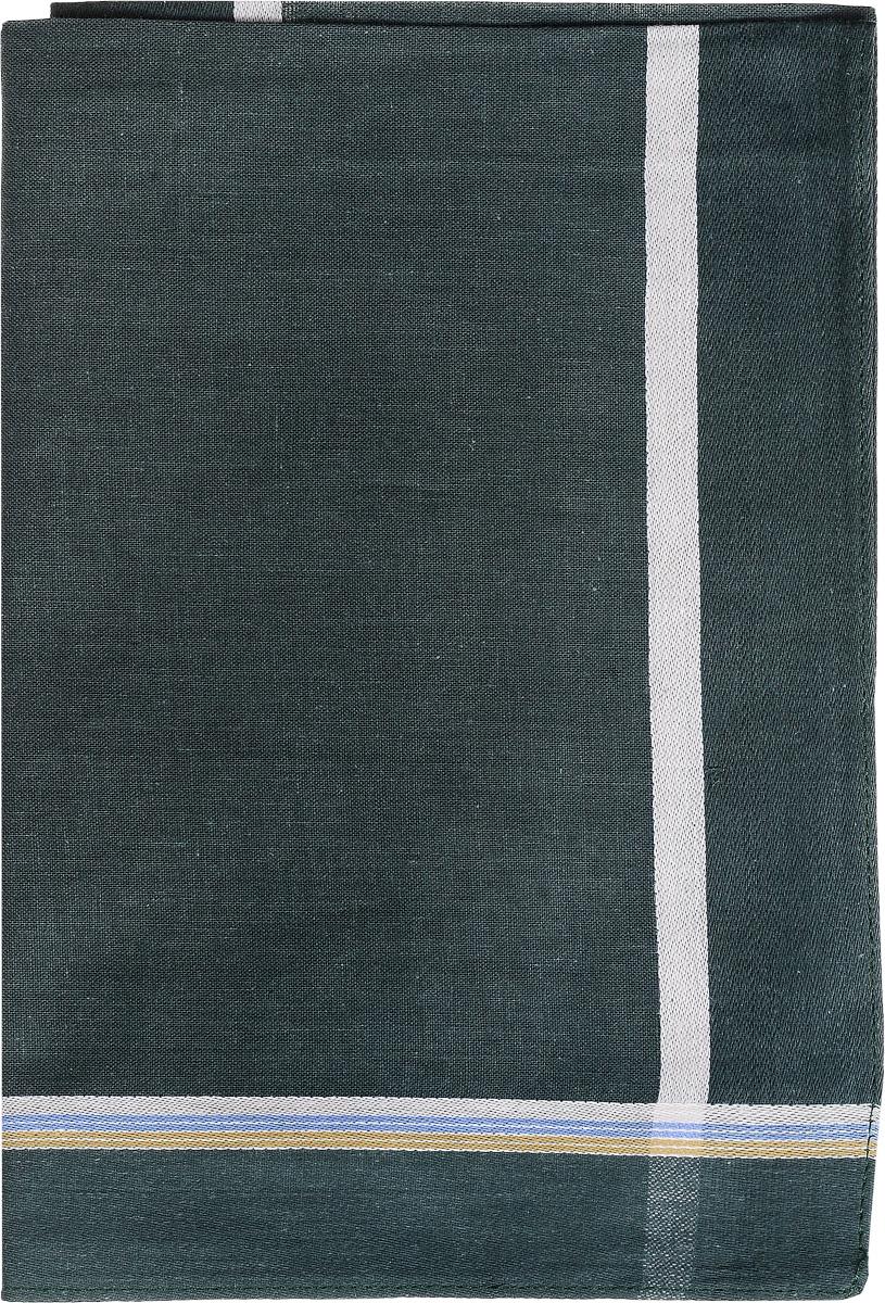 Платок носовой мужской Zlata Korunka, цвет: темно-бирюзовый. 45480. Размер 40 см х 40 см45480_зеленыйМужской носовой платок Zlata Korunka, изготовленный из хлопка с добавлением полиэстера, приятен в использовании и хорошо стирается. Материал не садится и отлично впитывает влагу. Модель оформлена по краям контрастными полосками.