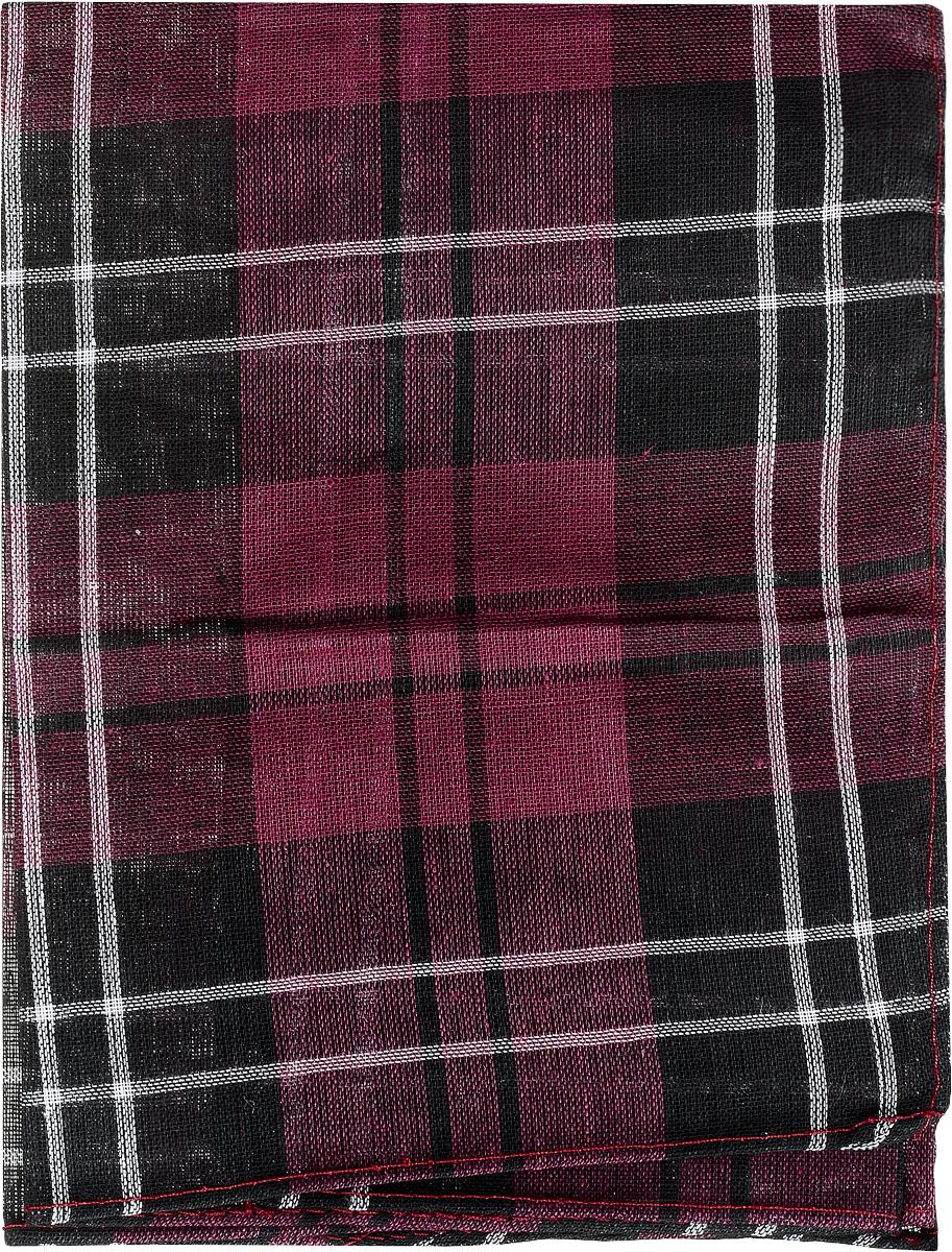 Платок носовой мужской Zlata Korunka, цвет: черный, бордовый, белый. 45449. Размер 33 см х 35 см45449_черный, бордовыйМужской носовой платок Zlata Korunka, изготовленный из натурального хлопка, приятен в использовании и хорошо стирается. Материал не садится и отлично впитывает влагу. Модель оформлена оригинальным принтом.