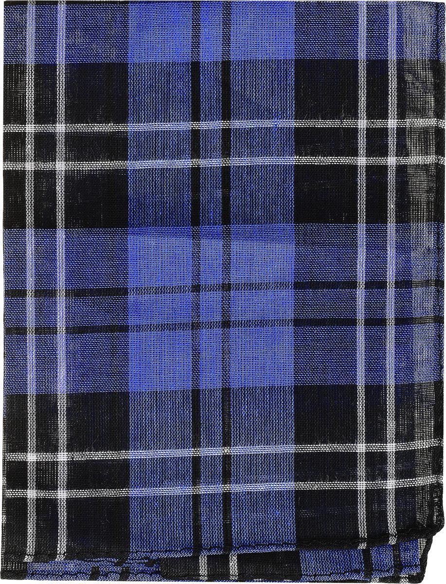 Платок носовой мужской Zlata Korunka, цвет: черный, синий, белый. 45449. Размер 33 см х 35 см45449_черный, синийМужской носовой платой Zlata Korunka, изготовленный из натурального хлопка, приятен в использовании и хорошо стирается. Материал не садится и отлично впитывает влагу. Модель оформлена оригинальным принтом.