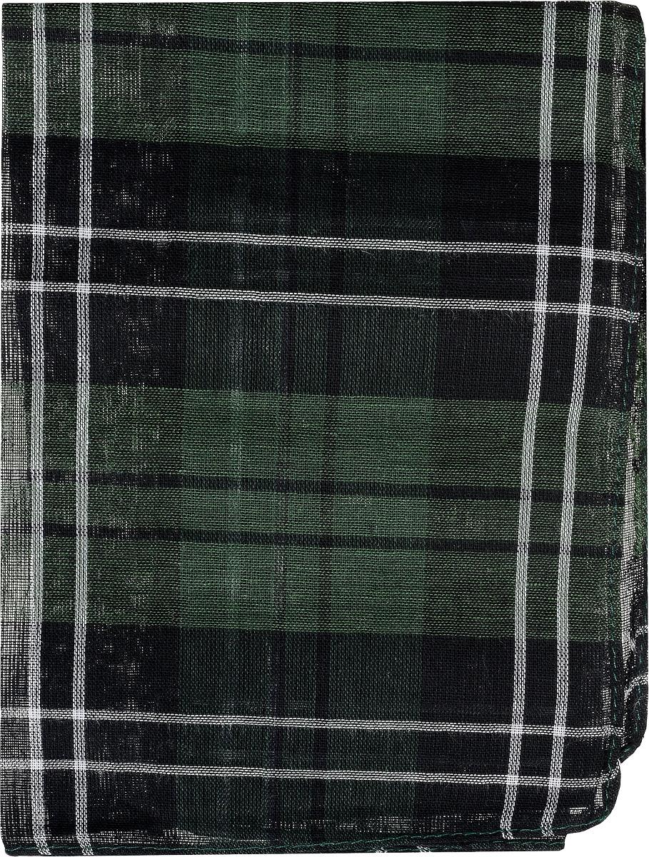 Платок носовой мужской Zlata Korunka, цвет: черный, темно-зеленый, белый. 45449. Размер 33 см х 35 см45449_черный, зеленыйМужской носовой платок Zlata Korunka, изготовленный из натурального хлопка, приятен в использовании и хорошо стирается. Материал не садится и отлично впитывает влагу. Модель оформлена оригинальным принтом.