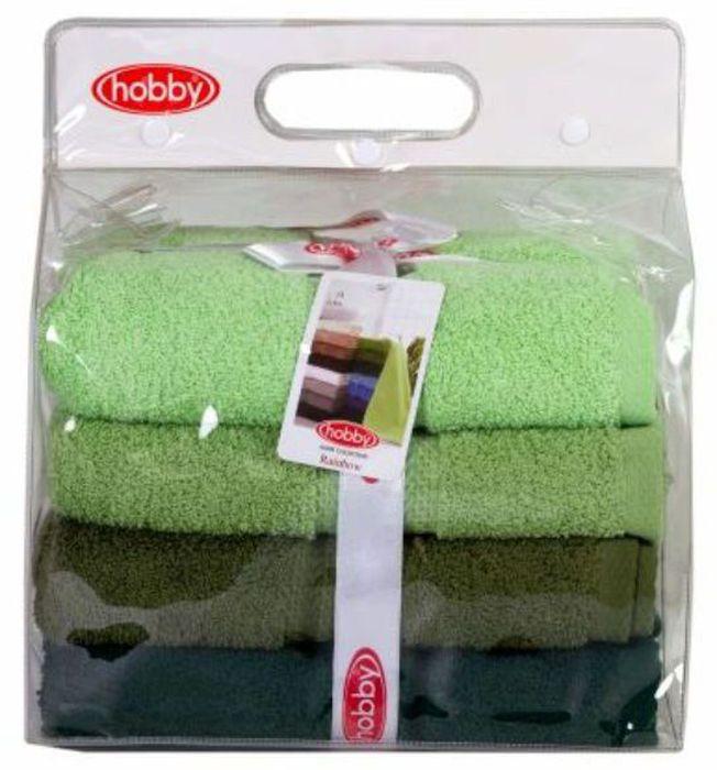 Набор полотенец Hobby Home Collection Rainbow, цвет: светло-зеленый, оливковый, темно-зеленый, 50 х 90 см, 4 шт1501001194Набор Hobby Home Collection Rainbow состоит из четырех махровых полотенец, выполненных из натурального 100% хлопка. Изделия мягкие, отлично впитывают влагу, быстро сохнут, сохраняют яркость цвета и не теряют форму даже после многократных стирок. Полотенца Hobby Home Collection Rainbow очень практичны и неприхотливы в уходе. Они легко впишутся в любой интерьер благодаря своей нежной цветовой гамме. Размер полотенец: 50 х 90 см.