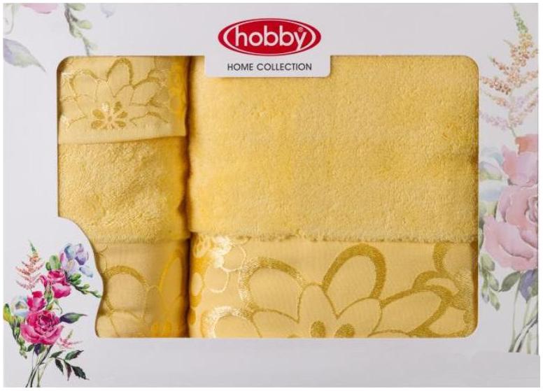 Набор полотенец Hobby Home Collection Dora, цвет: желтый, 3 шт1501001216Набор Hobby Home Collection Dora состоит из трех махровых полотенец, выполненных из натурального 100% хлопка. Изделия мягкие, отлично впитывают влагу, быстро сохнут, сохраняют яркость цвета и не теряют форму даже после многократных стирок. Полотенца Hobby Home Collection Dora очень практичны и неприхотливы в уходе. Они легко впишутся в любой интерьер благодаря своей нежной цветовой гамме.
