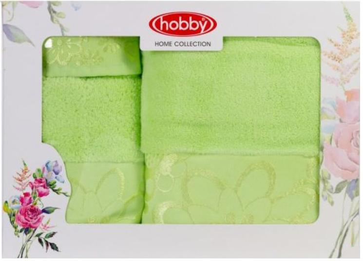 Полотенце махровое Hobby Home Collection Dora, цвет: зеленый, 30х50 см, 50х90 см, 70х140 см, 3 шт1501001217Полотенца марки Хобби уникальны и разрабатываются эксклюзивно для данной марки. При создании коллекции используются самые высокотехнологичные ткацкие приемы. Дизайнеры марки украшают вещи изысканным декором. Коллекция линии соответствует актуальным тенденциям, диктуемым мировыми подиумами и модой в области домашнего текстиля.