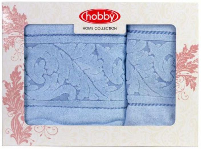 Полотенце махровое Hobby Home Collection Sultan, цвет: голубой, 50х90 см, 70х140 см, 2 шт1501001232Полотенца марки Хобби уникальны и разрабатываются эксклюзивно для данной марки. При создании коллекции используются самые высокотехнологичные ткацкие приемы. Дизайнеры марки украшают вещи изысканным декором. Коллекция линии соответствует актуальным тенденциям, диктуемым мировыми подиумами и модой в области домашнего текстиля.