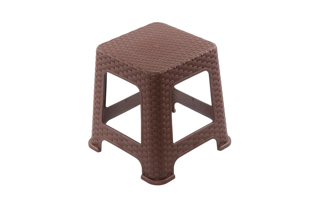 Табурет Violet Плетеный, цвет: коричневый, 38 х 38 х 45 см810527Легкий и удобный табурет. Можно использовать для дома и дачи. Выполнен из экологически чистого пластика.