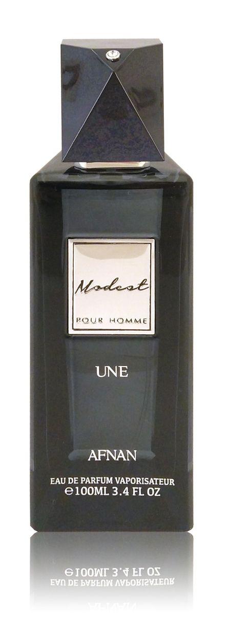 Afnan Modest Pour Homme Une Парфюмерная вода мужская, 100 мл214191Сдержаный и благородный аромат на каждый день. Тепло амбры и свежесть цитрусов дополнены нотамм мускуса. Стойкий длинный шлейф •Верхние ноты:амбровые •Ноты сердца:пряные, цитрусовые •Базовые ноты: мускус