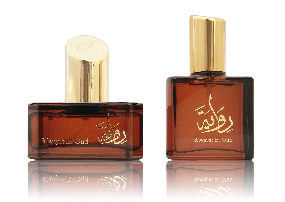 Afnan Riwayat El Oud Парфюмерная вода, 50 + 20 мл214426Семейство ароматов: восточно-древесные, пряные Верхние ноты: удовые, амбровые Ноты «сердца»: амбровые, пряные Базовые ноты: удовые, пряные