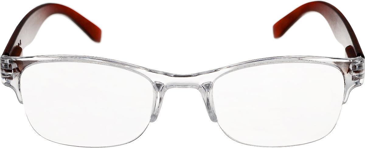 Proffi Home Очки корригирующие (для чтения) 322 Fabia Monti +4.00, цвет: прозрачный, коричневыйPH6Корригирующие очки, это очки которые направлены непосредственно на коррекцию зрения. Готовые очки для чтения с минусовыми и плюсовыми диоптриями (от -2,5 до + 4,00), не требующие рецепта врача. За счет технологически упрощенной конструкции и отсуствию этапа изготовления линз по индивидуальным параметрам - экономичный готовый вариант для людей, пользующихся очками нечасто, в основном, для чтения.