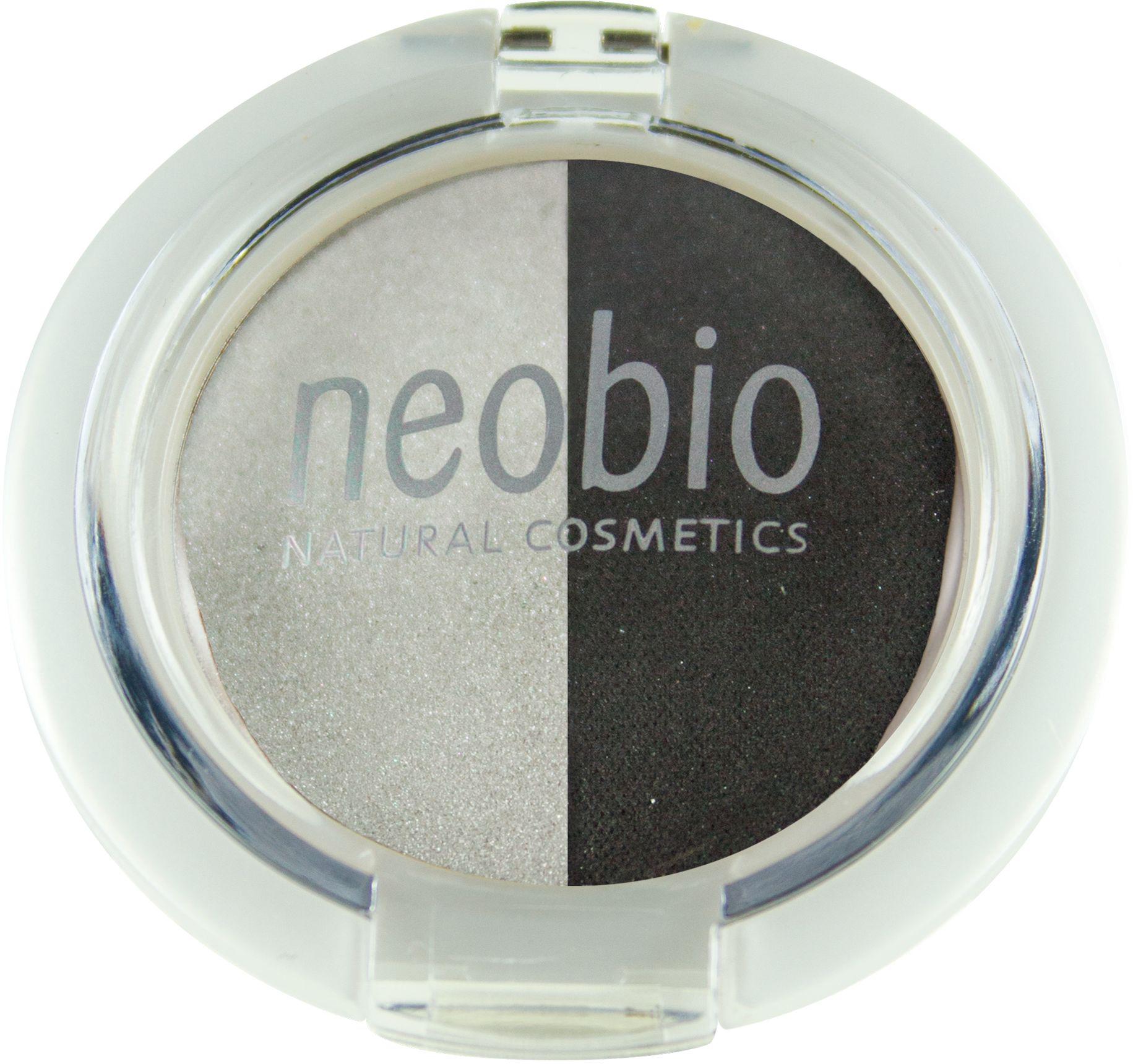 Neobio Двойные тени для век, тон № 03 (туманная ночь), 2,5 г62056Тени для век Neobio имеют мягкую матовую текстуру, легко наносятся, не скатываются и не осыпаются, держатся в течение дня. В результате нанесения получается элегантный макияж глаз и в тоже время надежный уход и защита за Вашей кожей. Тени Neobio подходят для чувствительных глаз, а также при ношении контактных линз. Тени содержат безвредные деликатные красящие пигменты, одобренные международной сертификацией NATRUE. Входящие в состав органическое масло макадамии, органическое масло клещевины и витамин Е благотворно влияют на кожу век, увлажняют ее и смягчают. Слюда оказывает противовоспалительный эффект, поглощает излишки жира и матирует. Двойные тени для век туманная ночь идеальный помощник в создании макияжа Smoky eyes. Натуральность продукта подтверждена международным сертификатом NATRUE. Продукт прошел дерматологический контроль.