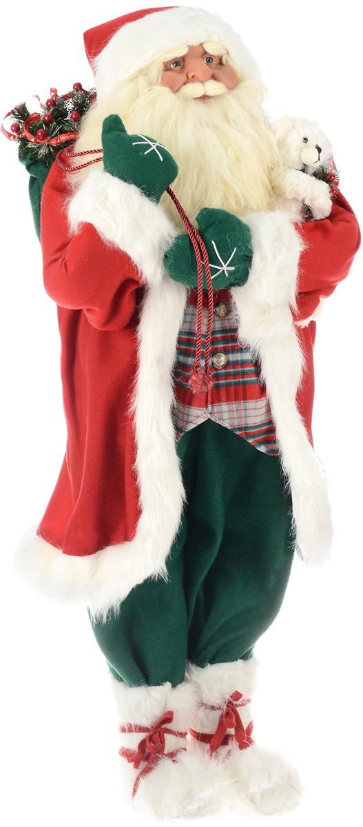Фигура новогодняя ESTRO Дед Мороз с мешком и медвежонком, высота 1,2 мC21-481000Декоративная фигура ESTRO Дед Мороз с мешком и медвежонком изготовлена из высококачественных материалов в оригинальном стиле. Фигурка выполнена в виде куклы Деда Мороза с мешком подарков и медвежонком. Уютная и милая интерьерная игрушка предназначена для взрослых и детей, для игр и украшения новогодней елки, да и просто, для создания праздничной атмосферы в интерьере! Фигура прекрасно украсит ваш дом к празднику, а в остальные дни с ней с удовольствием будут играть дети. Оригинальный дизайн и красочное исполнение создадут праздничное настроение. Фигура создана вручную, неповторима и оригинальна. Порадуйте своих друзей и близких этим замечательным подарком!