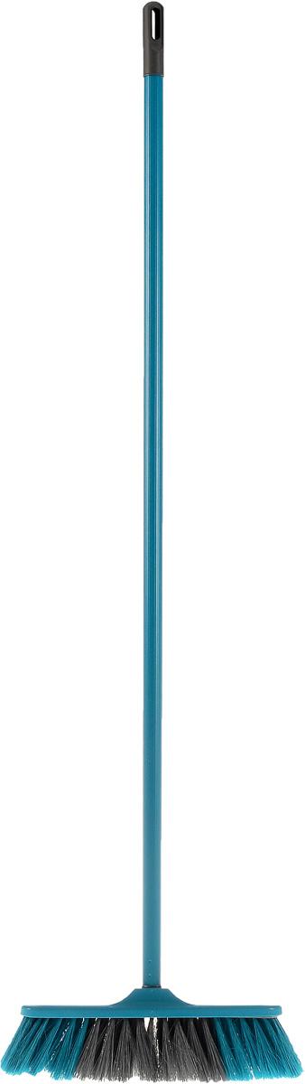 Щетка York Frontiera, с рукояткой, цвет: бирюзовый, 110 см5102Щетка York Frontiera с рукояткой выполнена из пластика и предназначена для уборки сухого мусора. Рукоятка оснащена специальным отверстием, благодаря которому щетку можно повесить на крючок. Упругий эластичный ворс щетки позволяет собрать мусор из самых труднодоступных мест. Размер щетки: 27 см х 5 см. Длина ворса: 6,5 см. Длина рукоятки: 110 см.