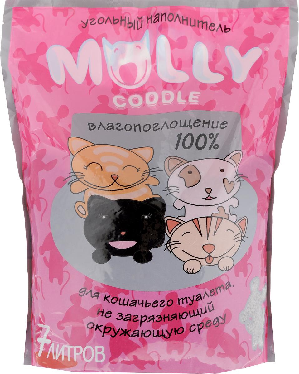 """Наполнитель для кошачьего туалета """"Molly coddle"""", угольный, 7 л"""
