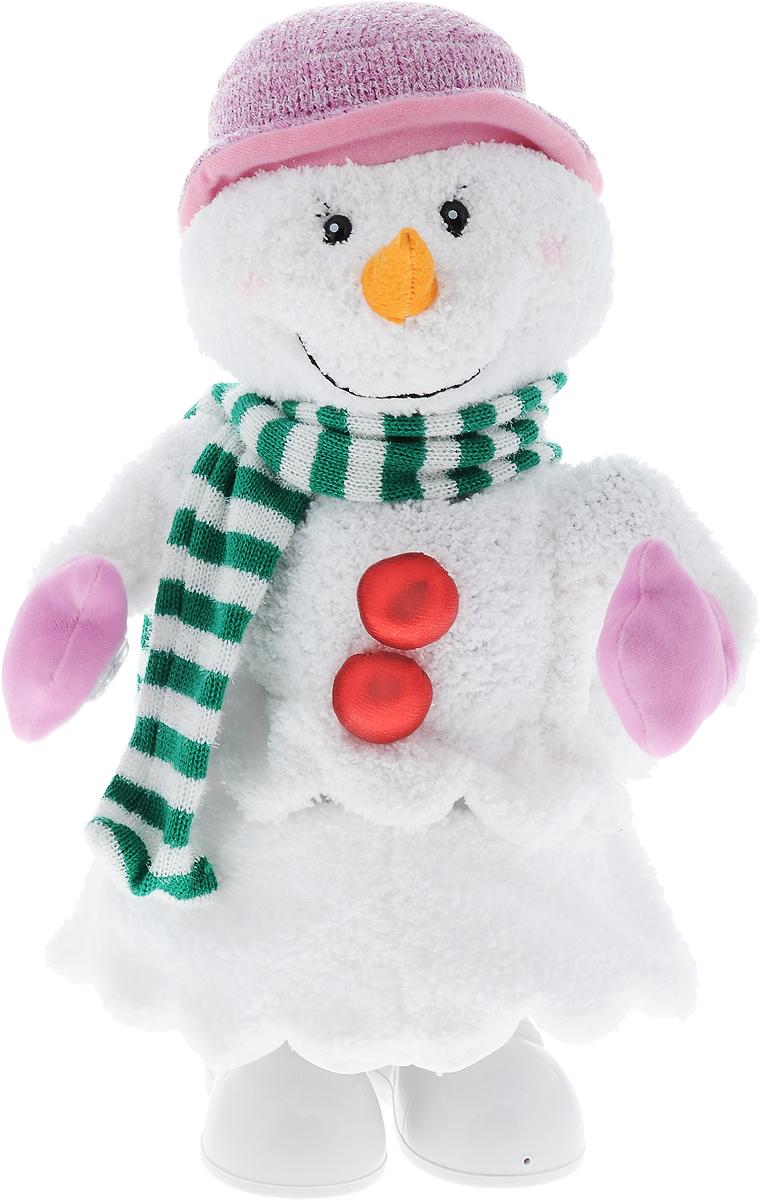 Игрушка музыкальная Mister Christmas Снеговик, высота 40 смSM-62018Музыкальная игрушка Mister Christmas Снеговик станет красивым украшением интерьера в преддверии Нового года. Игрушка представляет собой снеговика. Он одет в шарфик и варежки, на голове - шапка. Игрушка музыкальная, с задней стороны расположен механизм, при его включении издается приятная мелодия, и снеговик начинает двигаться и светиться. Такая игрушка станет не только украшением интерьера, но и приятным подарком, который придется по душе каждому. Механизм работает от 4 батареек типа С и 4 батареек типа АА (входят в комплект).
