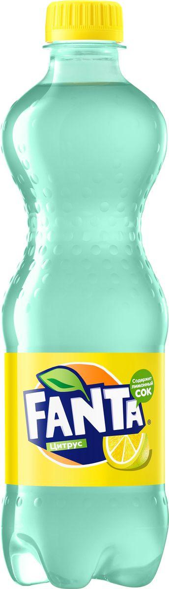 Fanta Цитрус напиток сильногазированный, 0,5 л246701Fanta Цитрус обладает совершенно необычным цитрусовым вкусом - оцените клевую цветную бутылку!