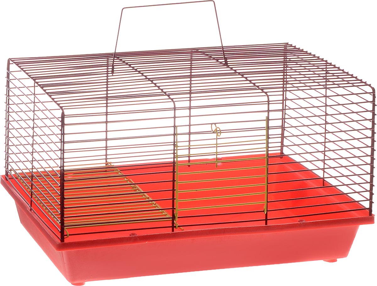 Клетка для хомяка ЗооМарк, 2-этажная, цвет: красный поддон, красная решетка, 36 х 23 х 20 см111ККДвухэтажная клетка ЗооМарк, выполненная из полипропилена и металла, подходит для хомяков или других небольших грызунов. Она имеет яркий поддон, удобна в использовании и легко чистится. Сверху имеется ручка для переноски. Такая клетка станет уединенным личным пространством и уютным домиком для маленького грызуна.