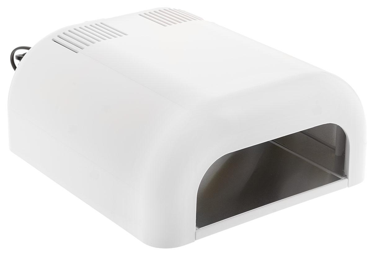 Dongri УФ лампа UV LAMP professional nail dryer 36 W, цвет: белый2991_белыйЕсли Вы планируете купить УФ лампу и не можете определиться с выбором, обратите внимание на этот прибор. Данная модель отличается высокой надежностью, оснащена таймером и для удобства мастера имеет на задней панели кнопку старта. Для нее можно использовать стандартные сменные лампочки индукционного типа, всегда имеющиеся в наличии в ассортименте нашей компании. Наличие выдвижной полки позволяет использовать УФ лампу SD-301C даже для процедур педикюра. Благодаря своей мощности и компактности, она идеально подойдет для домашнего наращивания ногтей, а невысокая цена сделает ее еще более выгодной покупкой.