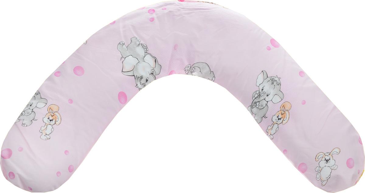 Selby Подушка универсальная Заяц и Слон цвет розовый
