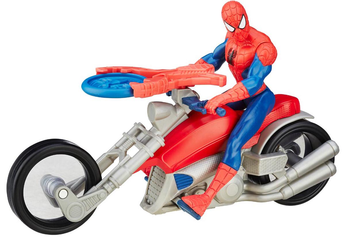 Spider-Man Фигурка Человек-паук на гоночном мотоциклеB8014EU4_B5760Обладая способностью выстреливать паутиной, Человек-паук защищает улицы Нью-Йорка на своем стильном и быстром мотоцикле! Разыгрывайте битвы против злодеев вместе с этим набором. В наборе имеется встроенная пусковая установка и снаряд, чтобы ребенок стрелял из нее, представляя, как побеждает злейших врагов Человека-паука. Человек-паук на гоночном мотоцикле позволит вашему ребенку представить, как его любимые герои и злодеи отправляются в грандиозное высокоскоростное сражение! В набор входит фигурка, мотоцикл и снаряд. Придумайте грандиозное высокоскоростное сражение!
