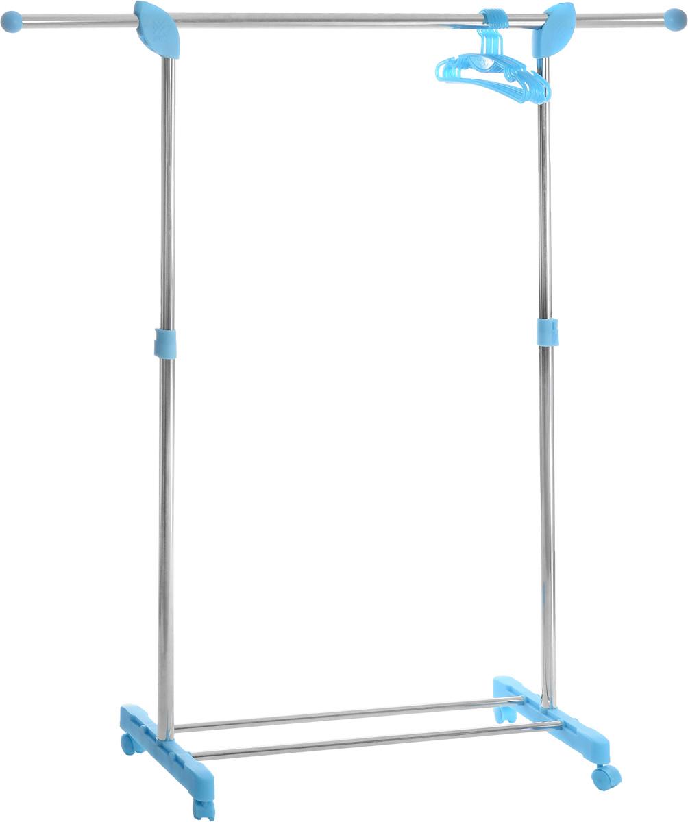 Вешалка напольная Gimi Super Paco, с плечиками, 147 см х 43 см х 97-172 см17610115Напольная вешалка гардеробного типа Gimi Super Paco прекрасно впишется в интерьер гостиной, спальни, коридора и станет дополнительным местом для одежды в гардеробной комнате. Вешалка имеет стальной корпус с отделкой пластмассовыми элементами. Изделие имеет перекладину и дополнительно 6 пластиковых вешалок для одежды, а также подставку для обуви. Для легкого перемещения вешалка снабжена колесиками. Регулируется по высоте. Вешалка очень вместительная, она удобная и крепкая, прекрасно подойдет на все случаи жизни. Максимальная нагрузка: 25 кг. Длина подставки для обуви: 82 см. Количество вешалок: 6 см.