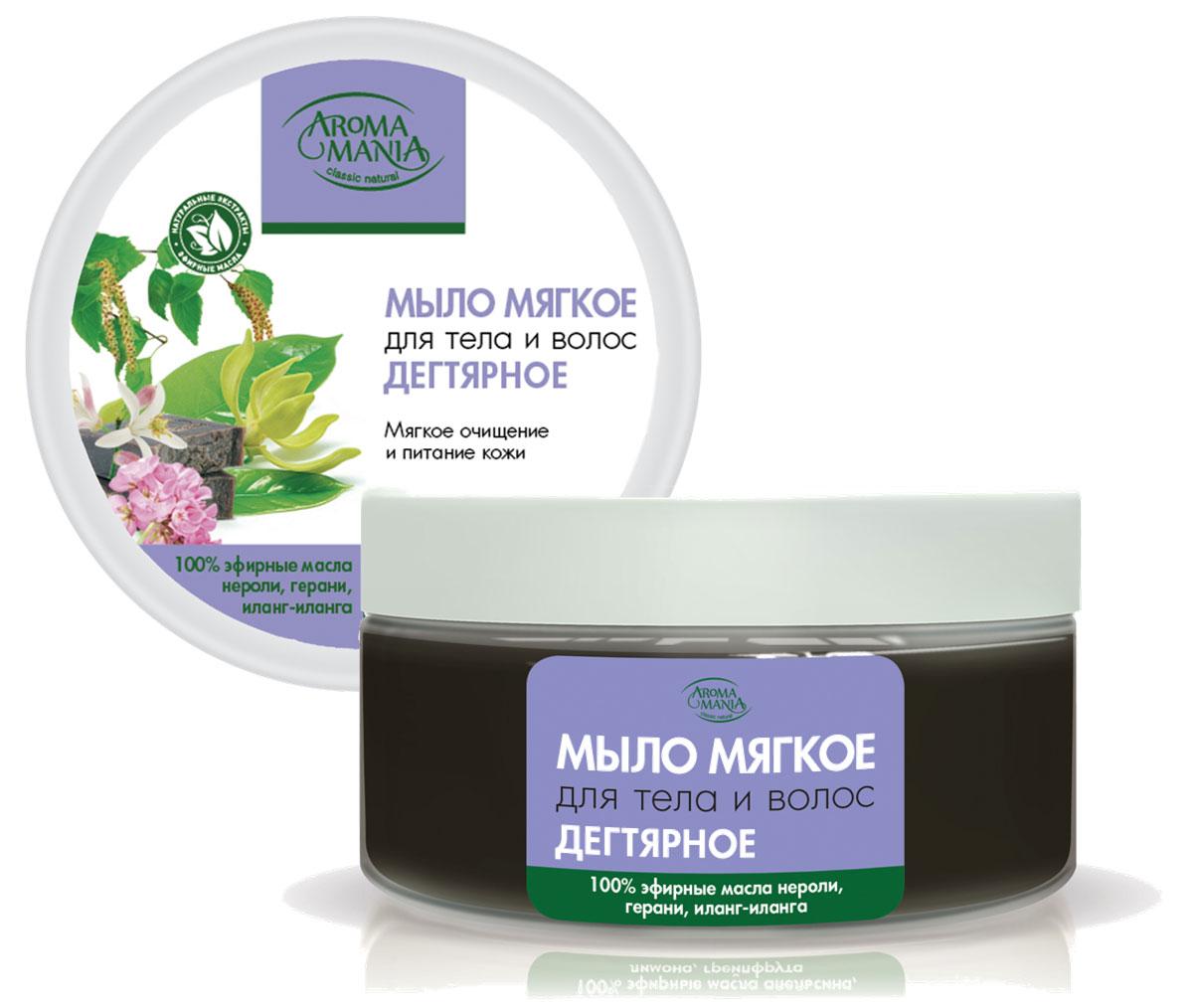Лекус Аромамания Мыло мягкое для тела и волос дегтярное, 250 мл5949Дегтярное мыло обладает уникальными антисептическими свойствми