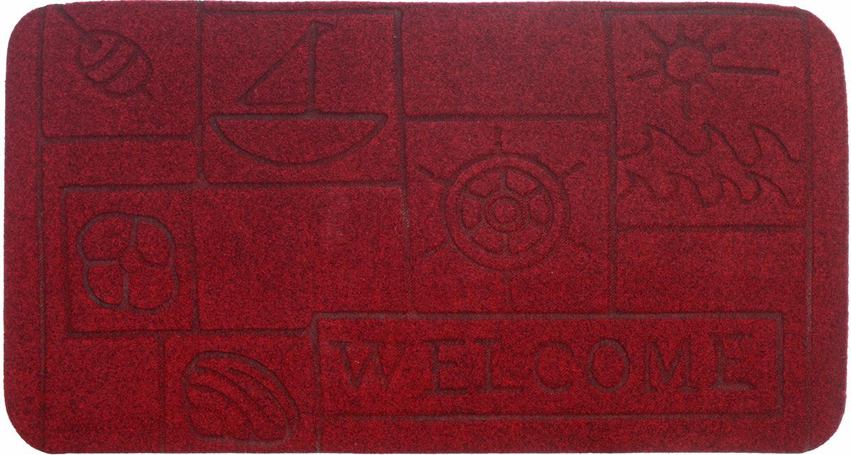 Коврик придверный EFCO Оскар. Кораблик, цвет: бордовый, 70 х 40 см13130_кораблик красныйОригинальный придверный коврик EFCO Оскар. Кораблик надежно защитит помещение от уличной пыли и грязи. Изделие выполнено из 100% полипропилена, основа - латекс. Такой коврик сохранит привлекательный внешний вид на долгое время, а благодаря латексной основе, он легко чистится и моется.