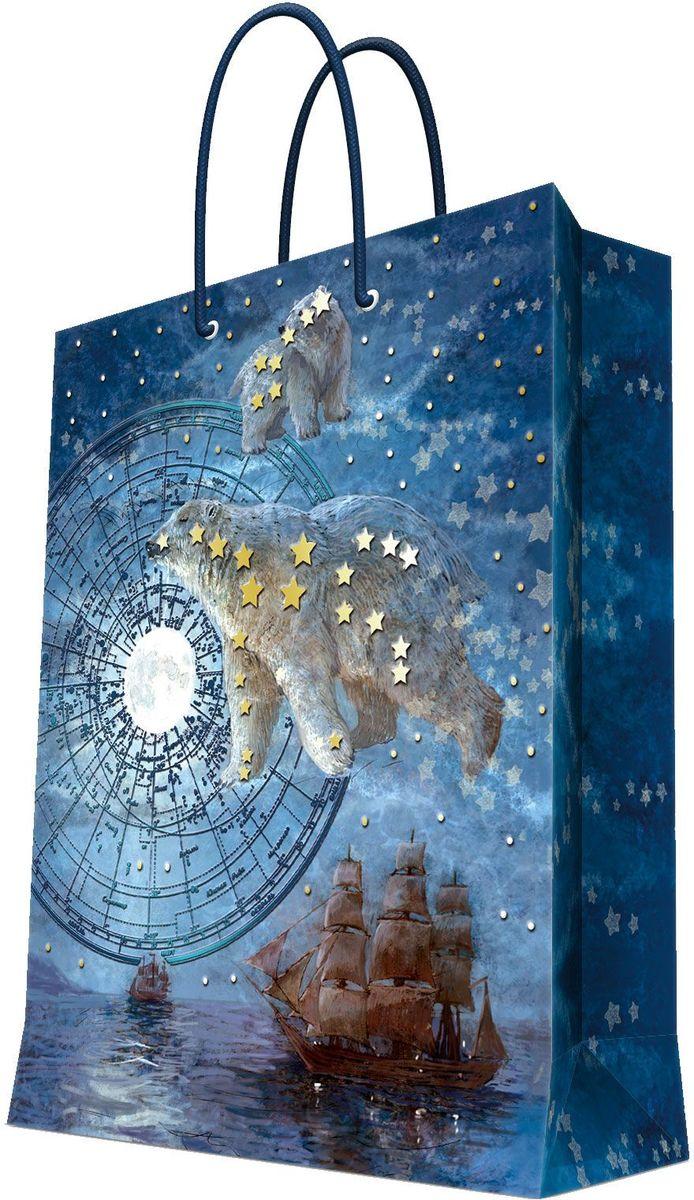 Пакет подарочный Magic Home Большая медведица, 17,8 х 22,9 х 9,8 см43512Подарочный пакет Magic Home, изготовленный из плотной бумаги, станет незаменимым дополнением к выбранному подарку. Дно изделия укреплено картоном, который позволяет сохранить форму пакета и исключает возможность деформации дна под тяжестью подарка. Пакет выполнен с глянцевой ламинацией, что придает ему прочность, а изображению - яркость и насыщенность цветов. Для удобной переноски имеются две ручки в виде шнурков. Подарок, преподнесенный в оригинальной упаковке, всегда будет самым эффектным и запоминающимся. Окружите близких людей вниманием и заботой, вручив презент в нарядном, праздничном оформлении. Плотность бумаги: 140 г/м2.