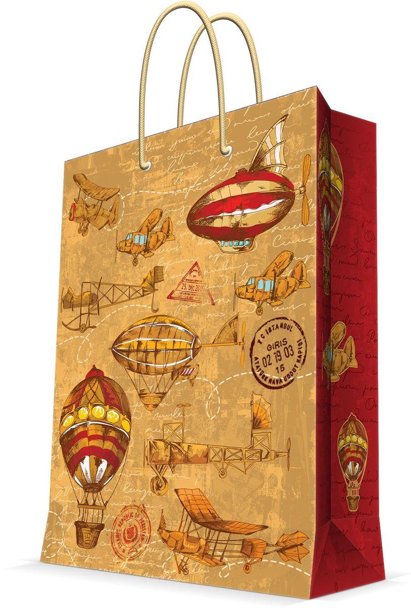 Пакет подарочный Magic Home Самолеты и дирижабли, 11 х 13,7 х 6,2 см44167