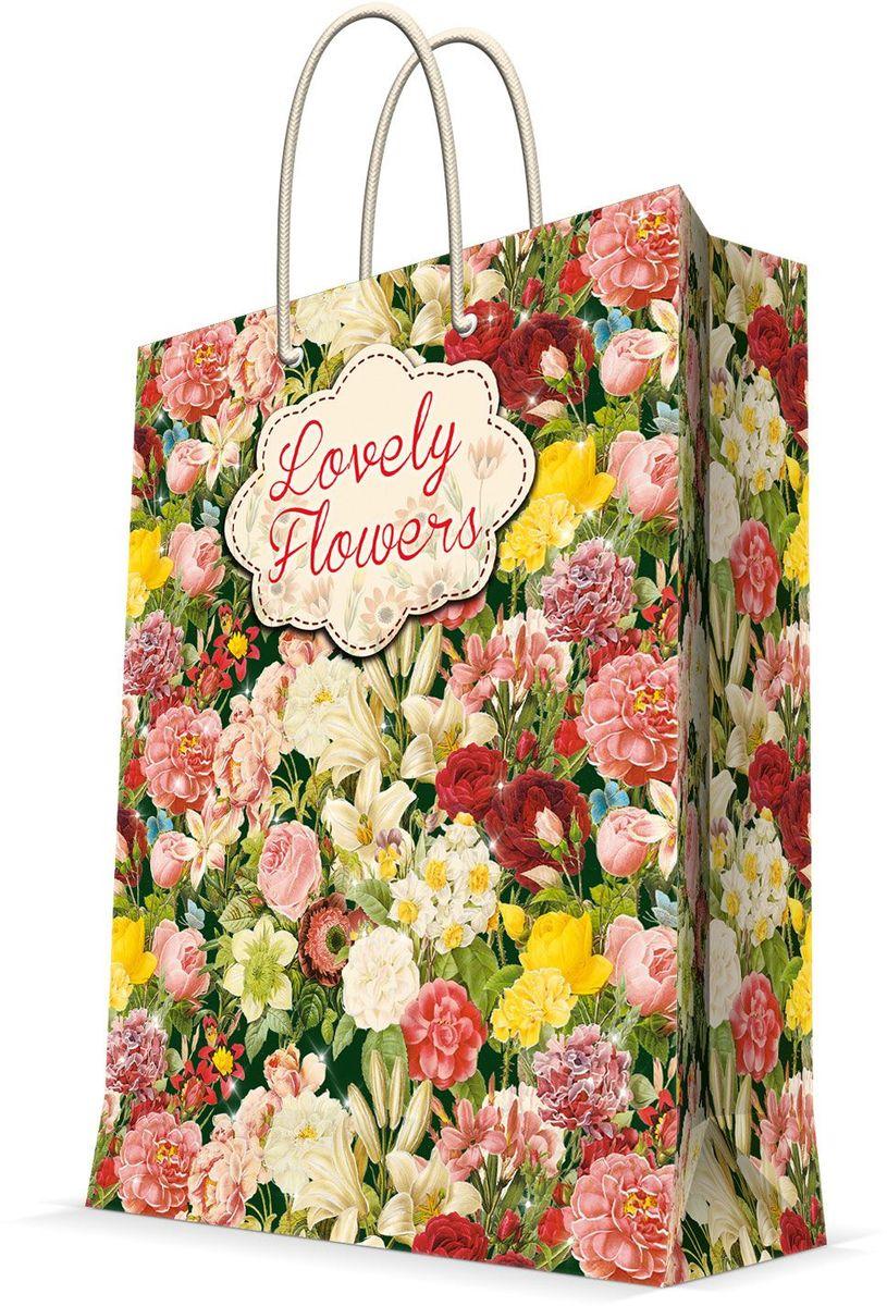 Пакет подарочный Magic Home Райский сад, 26 х 32,4 х 12,7 см44233Бумажный пакет для сувенирной продукции , с ламинацией, с шириной основания 26 см, плотность бумаги 140 г/м2