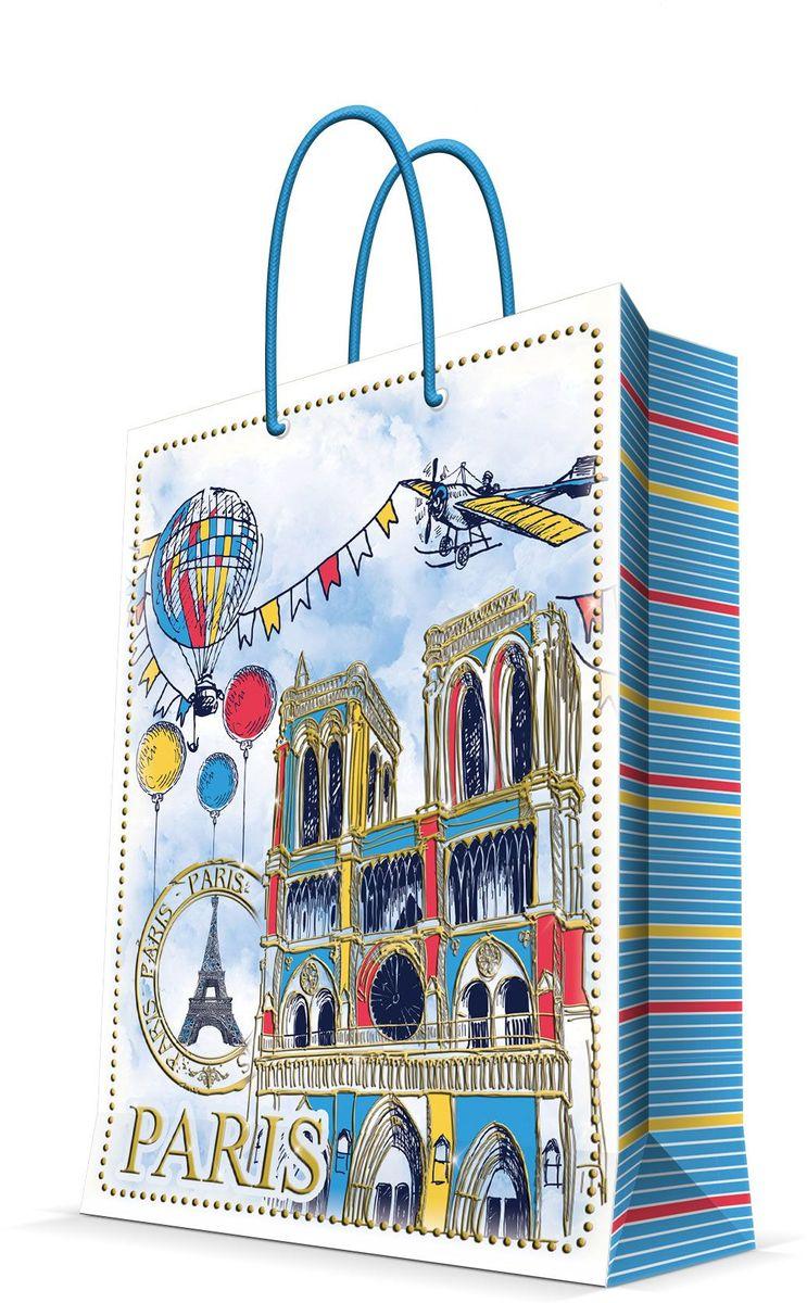 Пакет подарочный Magic Home Нотр-Дам, 26 х 32,4 х 12,7 см44237Бумажный пакет для сувенирной продукции , с ламинацией, с шириной основания 26 см, плотность бумаги 140 г/м2