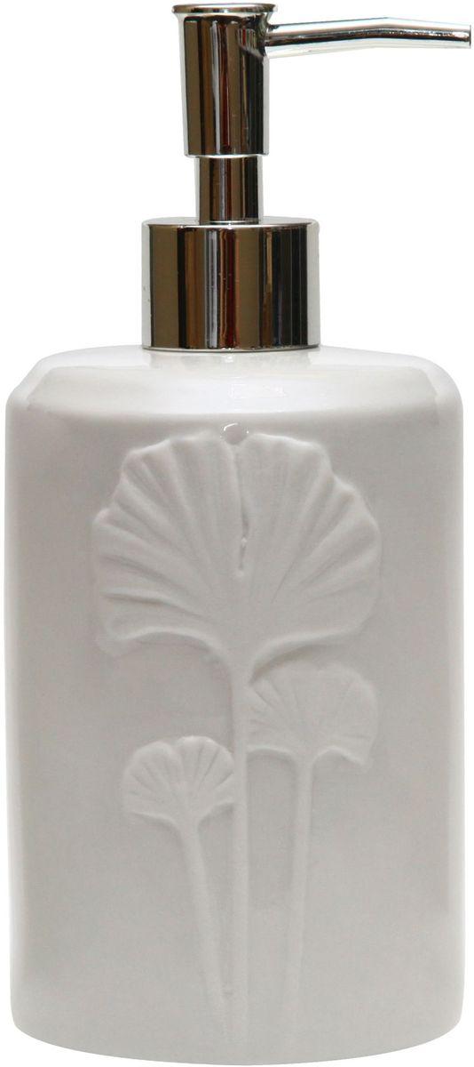 Диспенсер для мыла Proffi Home Лепесток, цвет: белый, 580 мл. PH6502PH6502Диспенсер для жидкого мыла - незаменимый аксессуар для тех, кто ценит чистоту своей раковины и экономный расход мыла. Вы можете легко переставлять его при необходимости. Этот диспенсер выполнен из керамики. Керамика выгодно отличается от других материалов в первую очередь натуральностью и благородным внешним видом. Этот материал устойчив к перепадам температур, повышенной влажности и бытовым химическим средствам. Благодаря оригинальному дизайну диспенсер станет украшением Вашей ванной комнаты. Материал: керамика. Цвет: белый. Страна-изготовитель: Китай.Размеры: 8.5x8.5x18.5 см