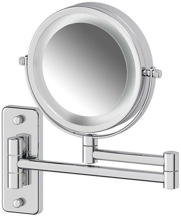 """Косметическое зеркало Defesto """"Pro"""", двустороннее, с подсветкой, увеличение x3. DEF 102"""