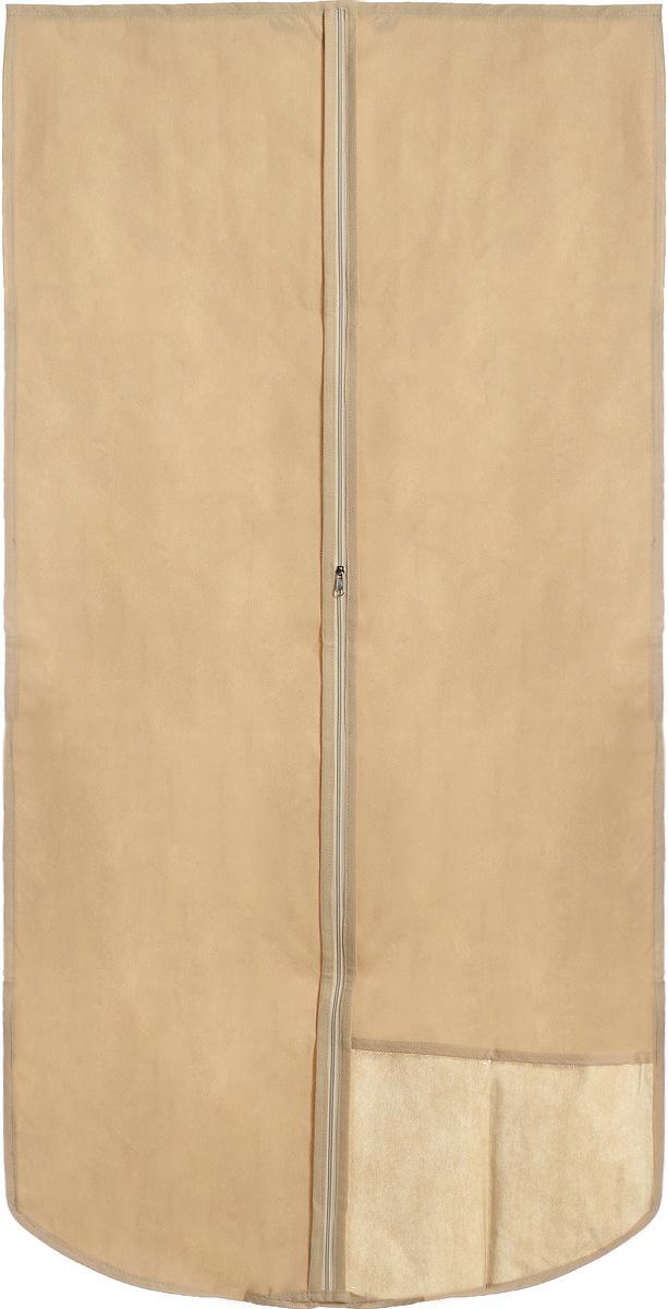 Чехол для одежды Miolla, с окошком, цвет: бежевый, 120 х 60 смCHL-2-4_бежевыйЧехол для костюмов и платьев Miolla на застежке-молнии выполнен из высококачественного нетканого материала. Прозрачное полиэтиленовое окошко позволяет видеть содержимое чехла. Подходит для длительного хранения вещей. Чехол обеспечивает вашей одежде надежную защиту от влажности, повреждений и грязи при транспортировке, от запыления при хранении и проникновения моли. Чехол обладает водоотталкивающими свойствами, а также позволяет воздуху свободно поступать внутрь вещей, обеспечивая их кондиционирование. Размер чехла: 120 х 60 см.