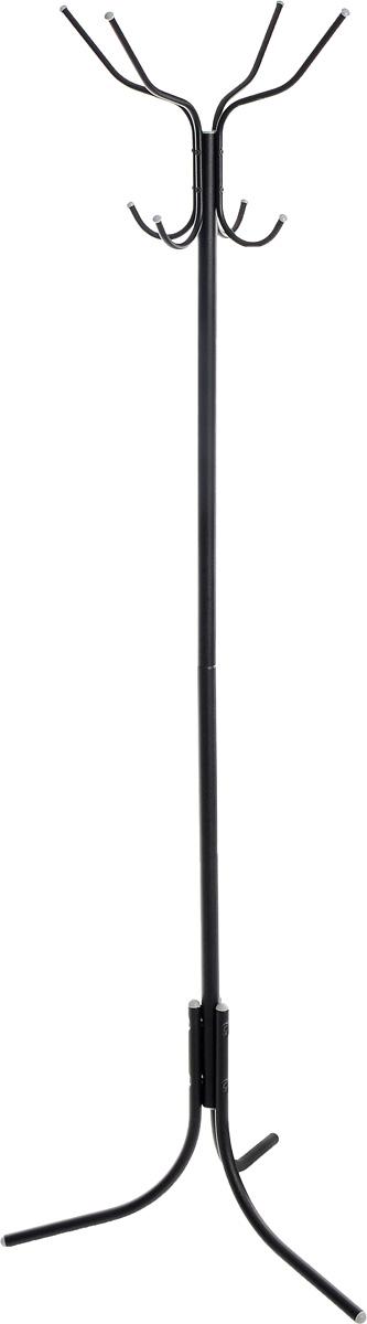 Вешалка напольная Sheffilton, цвет: черный, серый, 67 х 67 х 180 см. 14232D14232D_черный, серыйНапольная вешалка Sheffilton, изготовленная из металла, является идеальным решением для размещения большого количества одежды и головных уборов. Порошковая окраска изделия устойчива к механическим повреждениям. Вешалка состоит из круглой трубы D28мм, опоры D20мм и крючков D10мм. Устойчивое основание позволит поставить вешалку в любом удобном для вас месте. Изделие разборное, поставляется в плоской картонной коробке. Размер короны: 45 см х 45 см х 31 см. Максимальная нагрузка на крючок: 5 кг.