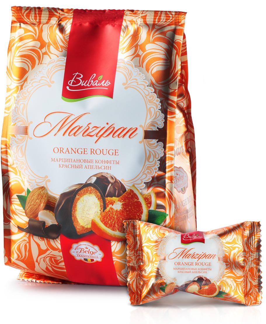 Виваль марципановые конфеты с начинкой Красный апельсин, 140 г 4620000679271