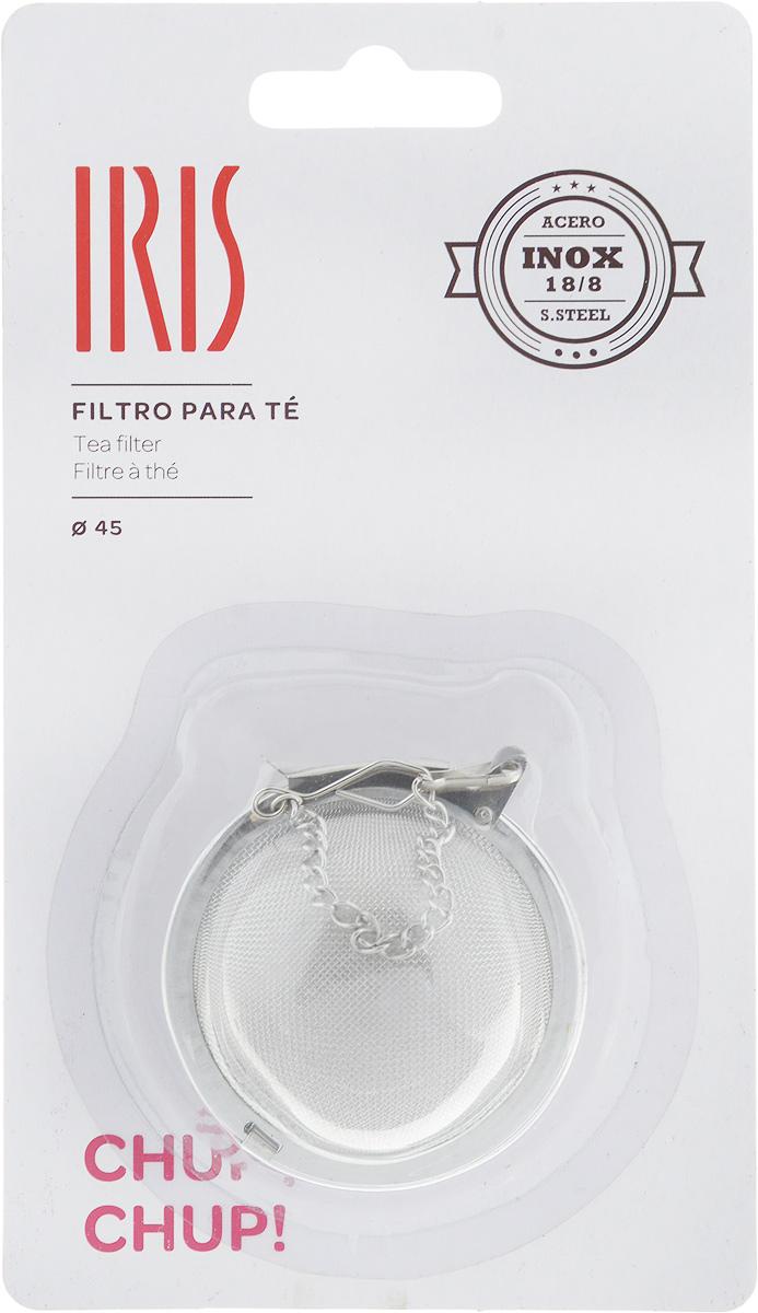 Ситечко для заваривания чая Iris, диаметр 4,5 см2623-IСитечко для заваривания чая Iris изготовлено из высококачественной нержавеющей стали. Удобная конструкция ситечка позволяет без особых усилий засыпать заварку в ситечко, поместить его в чашку или чайник с помощью цепочки и после заваривания с легкостью высыпать использованную заварку. При этом напиток остается чистым, как при использовании пакетированного чая, но гораздо более ароматным и полезным. С помощью ситечка удобно контролировать степень заваривания, а в зависимости от количества заварки, одновременно приготовить несколько чашек напитка. Допускается мытье в посудомоечной машине Диаметр ситечка: 4,5 см.