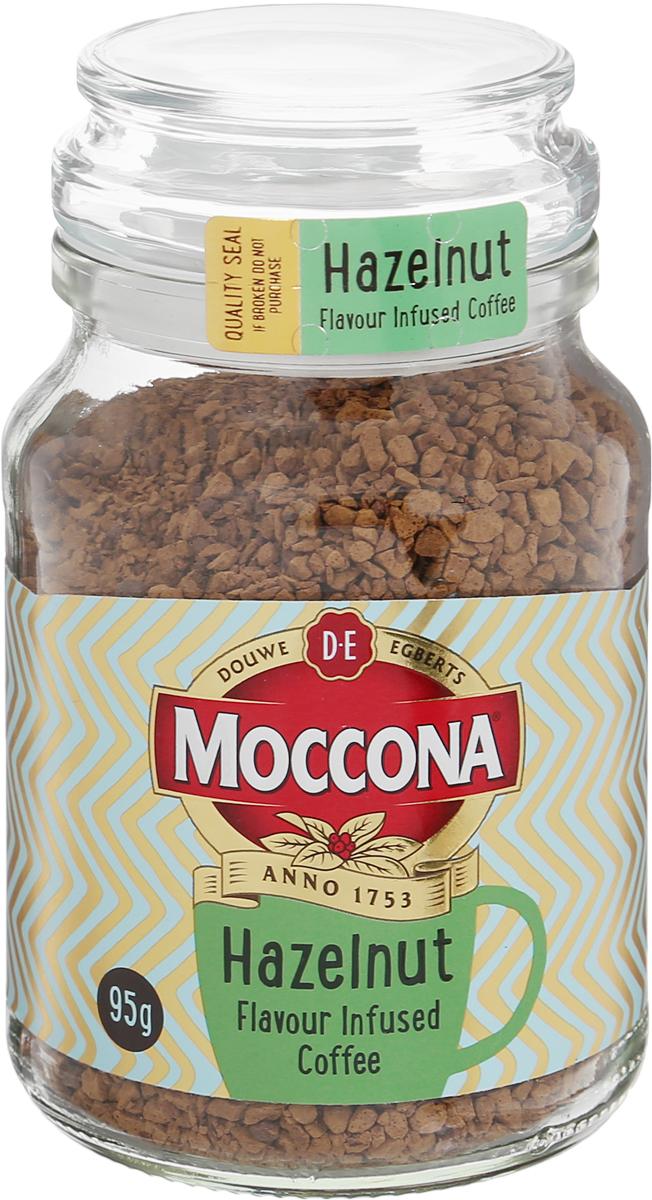 Moccona Hazelnut кофе растворимый с ароматом лесного ореха, 95 г (стеклянная банка)8711000309117Moccona Hazelnut - это кофе натуральный растворимый сублимированный с ароматом лесного ореха. Его терпкий вкус поможет вам взбодриться, где бы вы не были. Густой ореховый аромат и мягкое послевкусие не дадут вам оторваться от кофе Moccona Hazelnut.