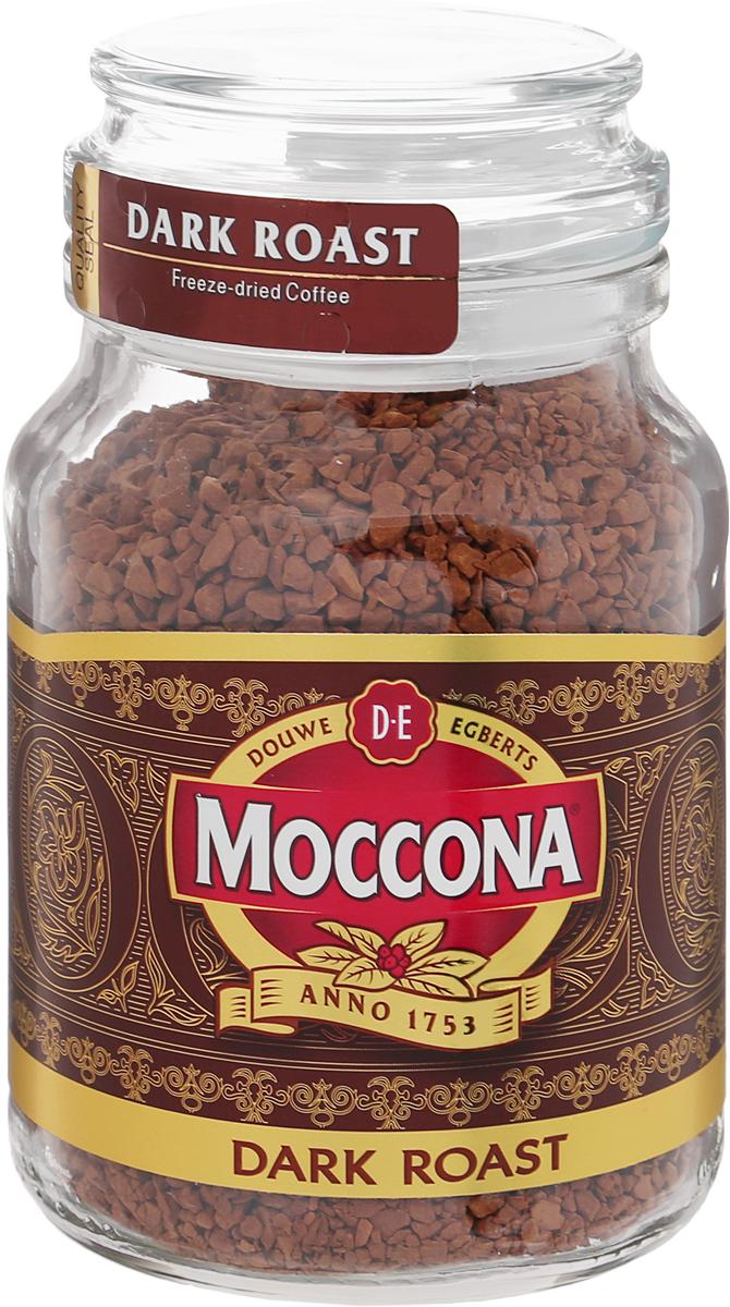 Moccona Dark Roast кофе растворимый, 95 г (стеклянная банка)4607031792438Moccona Dark Roast - это натуральный растворимый сублимированный кофе. Его терпкий вкус поможет вам взбодриться, где бы вы не были. Приготовлен из зёрен, прошедших темную (сильную) обжарку, обладает ярким послевкусием с лёгкой горчинкой и насыщенным ароматом. Идеально подходит для ценителей крепкого кофе.
