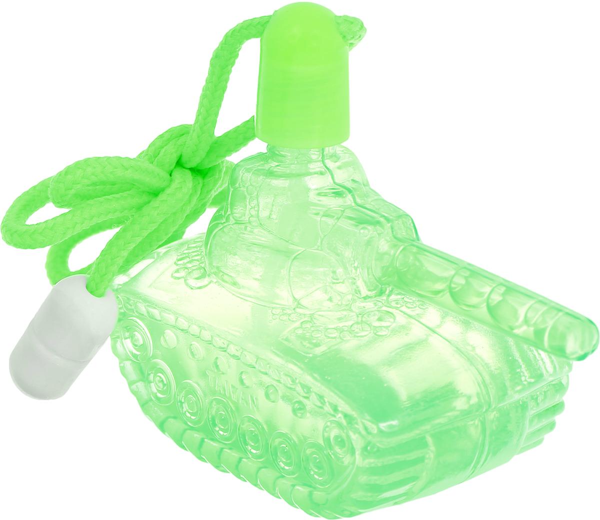 Uncle Bubble Мыльные пузыри Танк цвет зеленыйHD222-4_зеленыйМыльные пузыри Uncle Bubble Танк - удивительная и необычная игрушка, которая доставит вашему ребенку массу удовольствия и веселых моментов. Великолепные мыльные пузыри в пластиковой баночке в виде танка со шнурком приведут в восторг каждого ребенка. Пузыри не оставляют следов и совершенно безопасны для детей. Если пузырь упал на руку или другую часть тела, достаточно просто растереть его и он растворится.