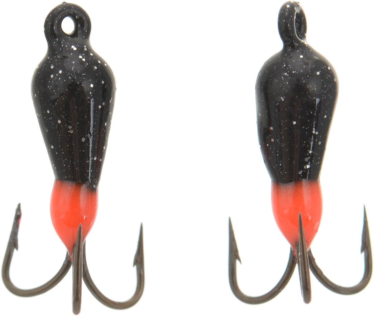 Чертик вольфрамовый Finnex, цвет: черный, красный, 0,38 г, 2 штT1BD_черный, красныйВольфрамовый чертик Finnex - одна из самых популярных приманок для ловли леща, плотвы и другой белой рыбы. Особенно хорошо работает приманка на всевозможных водохранилищах. Не пропустит ее и другая рыба, в том числе окунь, судак и щука.