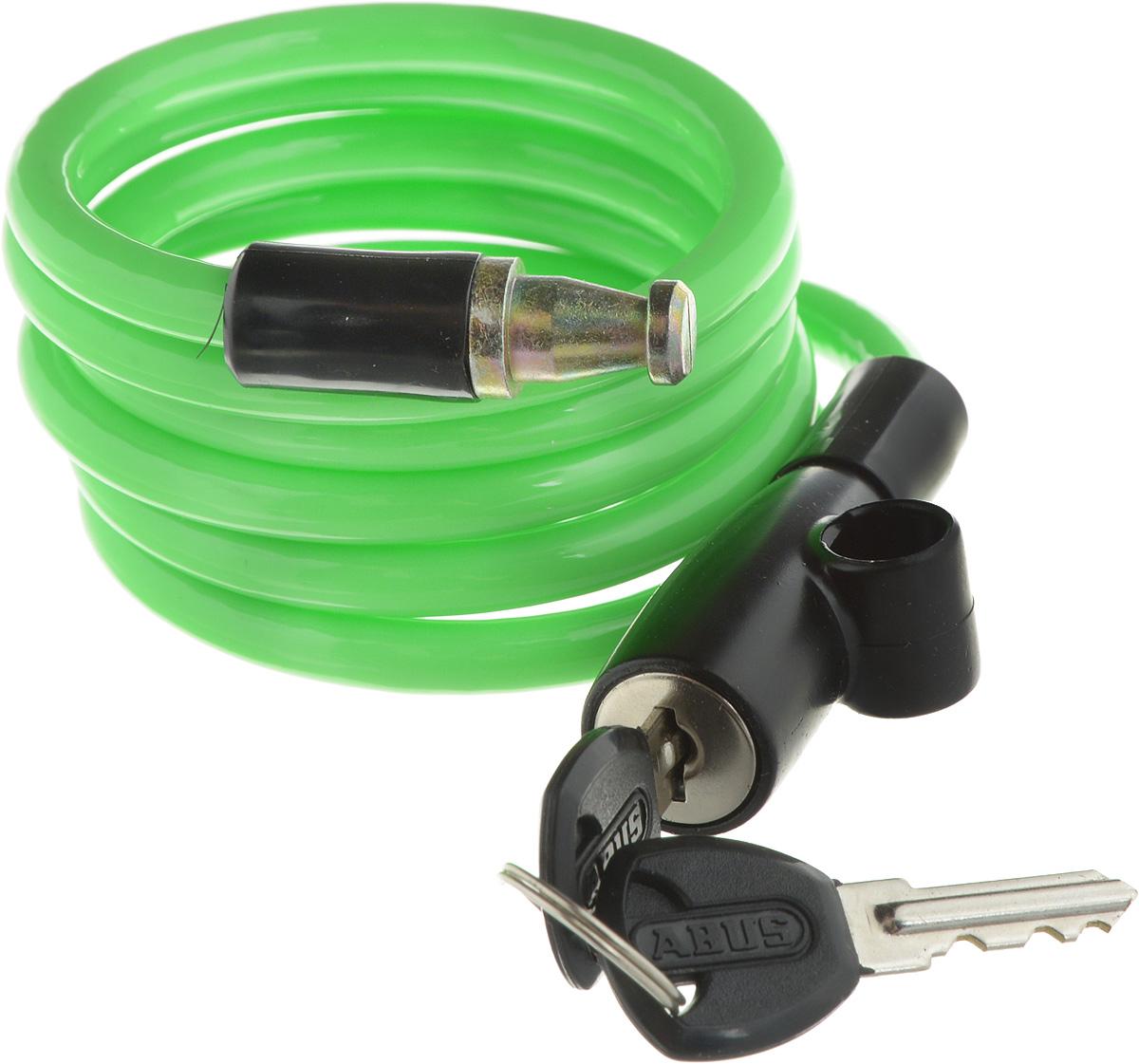 Велозамок Abus 1950/120 Kids, с ключами, цвет: салатовый, диаметр 7 мм, длина 1,31 м431609_ABUS_салатовыйВелосипедный замок Abus 1950/120 Kids - это отличная вещь для сохранности вашего велосипеда. Замок, выполненный из прочного пластика, оснащен металлическим тросом обтянутым мягким ПВХ. Блокируется при помощи ключа. Количество ключей: 2 шт. Диаметр троса: 7 мм. Длина: 1,31 м.