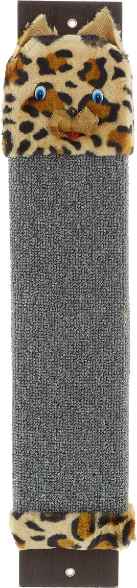 Когтеточка настенная Гамма Кот, с пропиткой, цвет: серый, бежевый, черный, 57 х 11 смЩг-10300_серый/т. ЛеопардКогтеточка Гамма Кот выполнена из оргалита и ковролина в виде доски. Когтеточка предназначена для стачивания когтей вашего питомца. Натуральное волокно изделия обеспечивает естественный уход за когтями кошки, предотвращая их врастание. Специальная пропитка привлекает внимание кошки, что позволяет сохранить мебель и другие предметы интерьера. Установите когтеточку в любом доступном для кошки месте и закрепите ее наиболее подходящим для вас способом. Размер: 57 х 11 см.