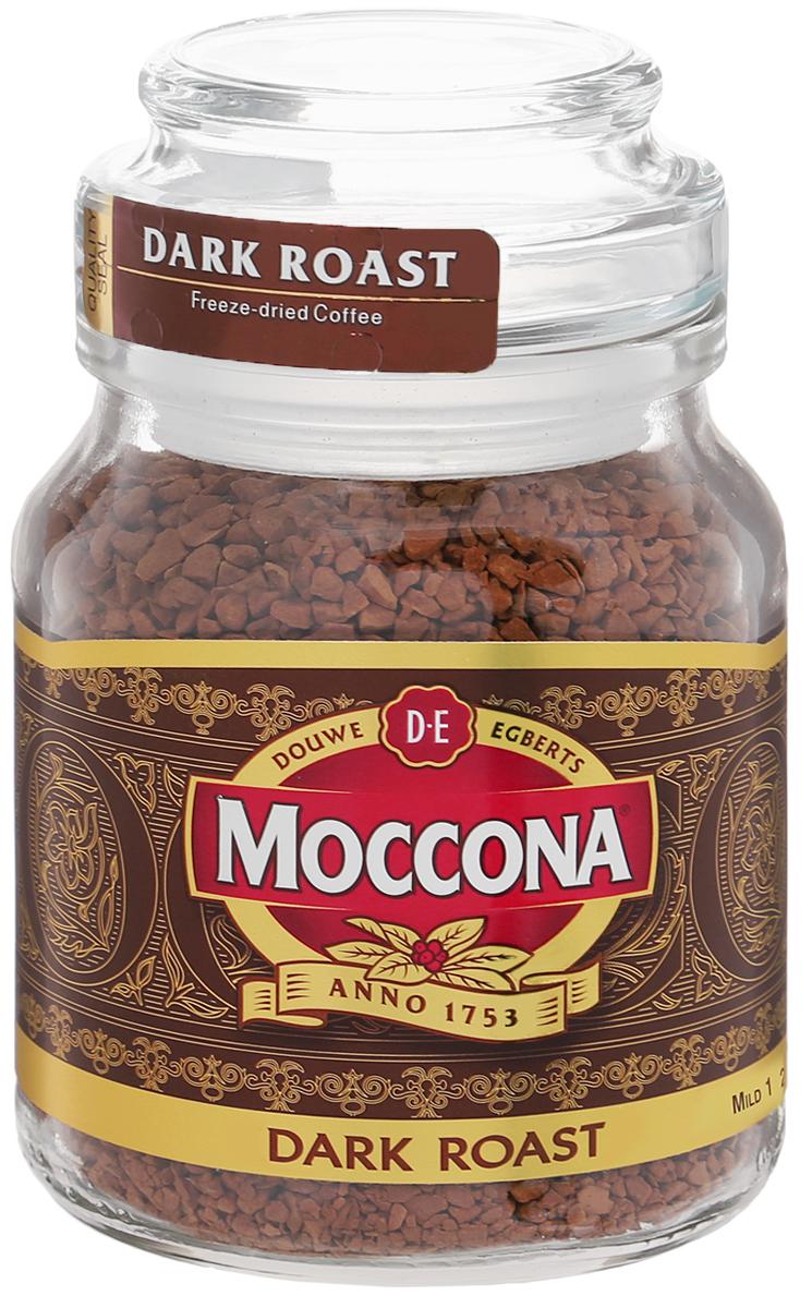 Moccona Dark Roast кофе растворимый, 47,5 г (стеклянная банка)4607031792414Moccona Dark Roast - это натуральный растворимый сублимированный кофе. Его терпкий вкус поможет вам взбодриться, где бы вы не были. Приготовлен из зёрен, прошедших темную (сильную) обжарку, обладает ярким послевкусием с лёгкой горчинкой и насыщенным ароматом. Идеально подходит для ценителей крепкого кофе.