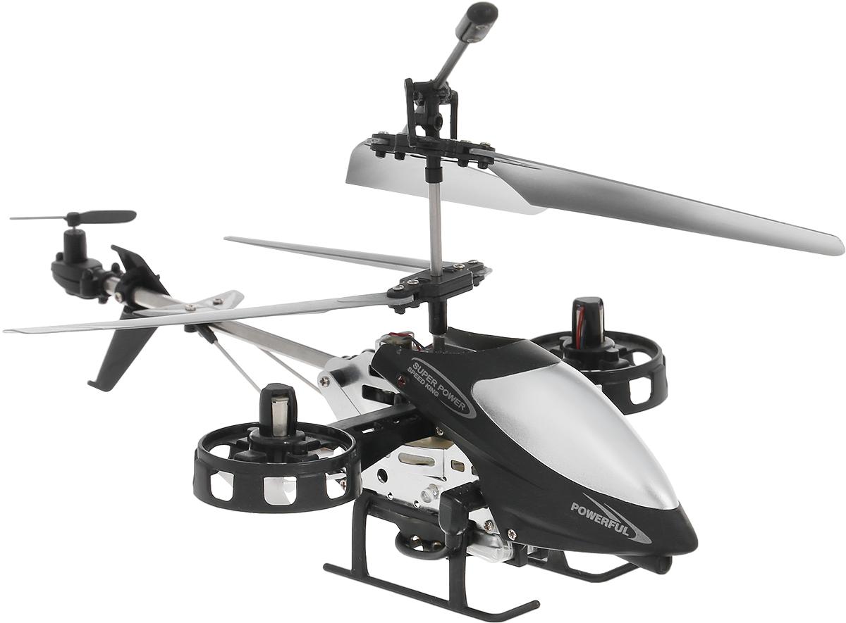 Властелин небес Вертолет на инфракрасном управлении L607 цвет серебристый черныйL607_серебристый, черныйВертолет Властелин небес L607 c инфракрасным управлением и встроенным гироскопом отлично подходит для интересного времяпровождения как ребенка, так и взрослого человека. Гироскоп предназначен для курсовой стабилизации полета. Вертолет небольшой и маневренный, он легко обходит препятствия, послушно следуя командам c пульта управления. Миниатюрная модель способна летать как настоящий вертолет вверх и вниз, вперед и назад, влево и вправо и разворачиваться вокруг своей оси и делать крены вправо и влево. Вы даже можете попробовать на нем простые фигуры высшего пилотажа. Вертолет изготовлен из металла с элементами из пластика. Имеется возможность подзарядки вертолета от передатчика и USB-шнура. Полностью заряженный вертолет летает 6-8 минут. Игрушка развивает многочисленные способности ребенка - мелкую моторику, пространственное мышление, реакцию и логику. Вертолет работает от встроенного аккумулятора, который можно заряжать от USB-шнура (входит в...