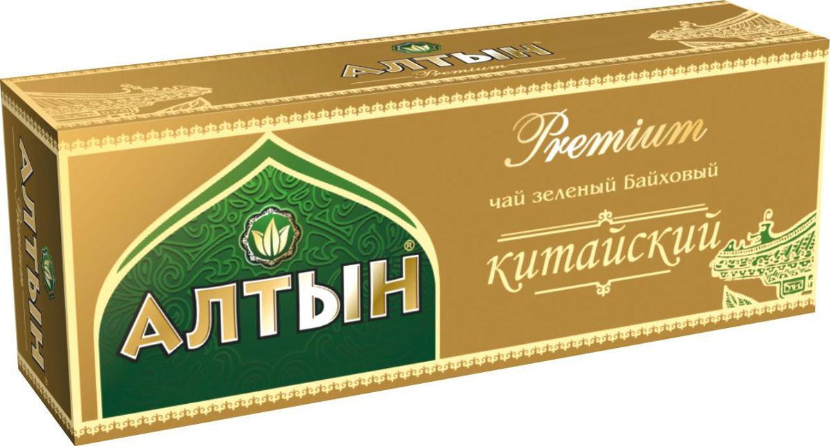 Алтын Premium Китайский зеленый чай в пакетиках, 25 шт4607003045036Пакетированный зеленый китайский чай Алтын с нежным вкусом и приятным ароматом понравится всем любителям зеленого чая.