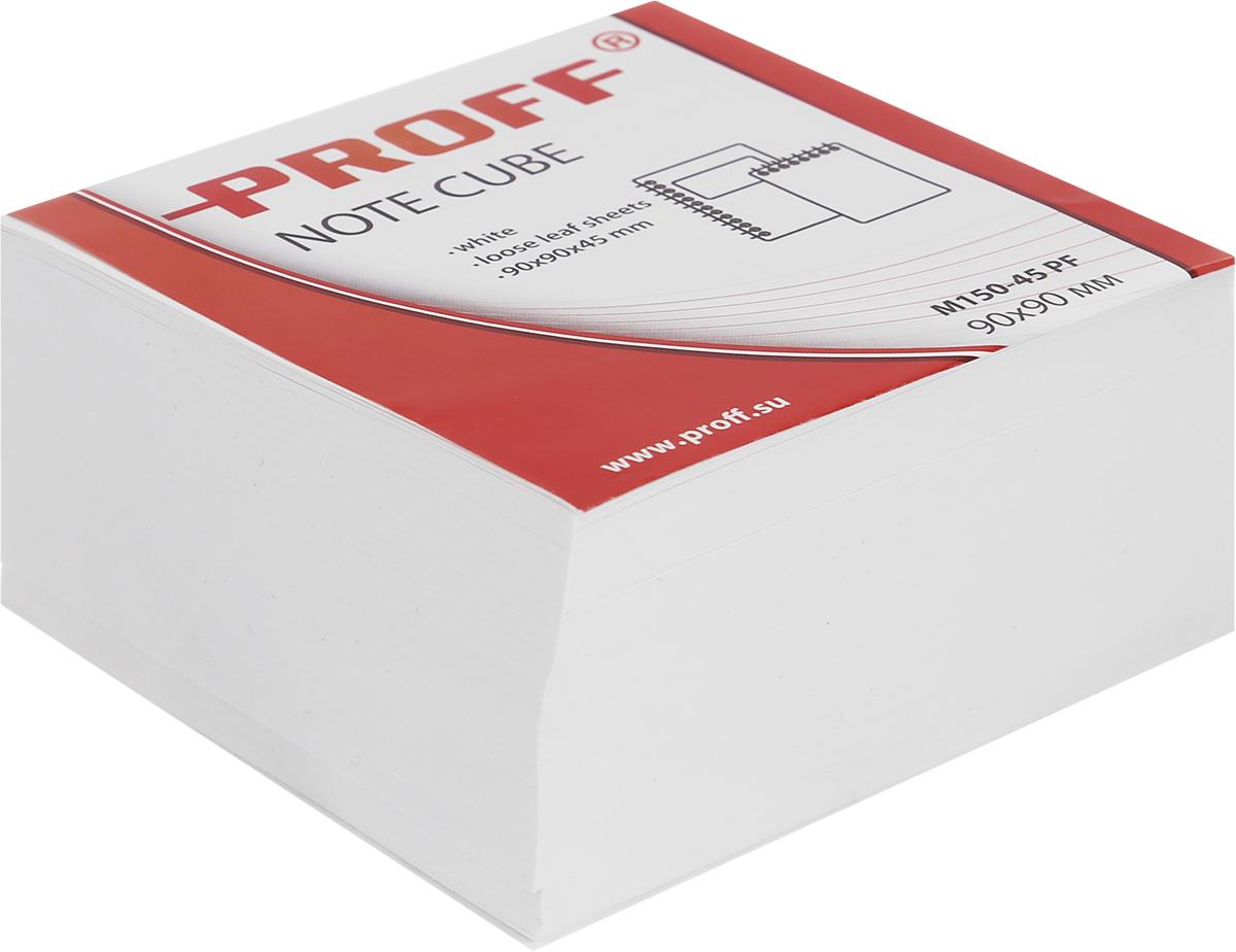 Бумажный блок для записей 90*90*45 белый, непроклеенный, в термоплёнке
